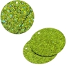 Sequins Hologram 30mm 1mm Hole Round Lime Green